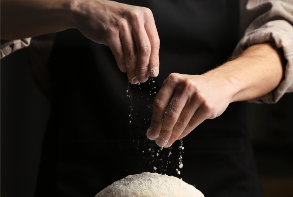 Já experimentou?  Fazer pão
